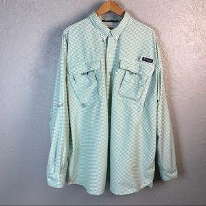 Columbia Super Bahama PFG Green Omni- Shade Shirt